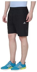 Adidas Navy Polyester Lycra Shorts for Men