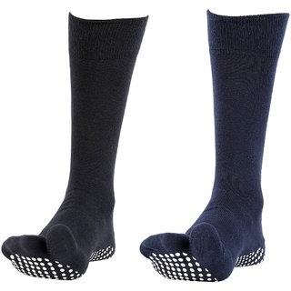 NOFALL Mens Antislip Socks Split Toe with NOFALL Grip (Pack of 2 PAIRS)