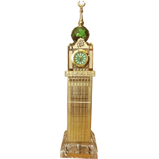 Crystal 24K GOLD PLATED Makkah Royal Clock Tower (Saudi Arabia)