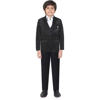 Jeet Black Coat Suit for Boys