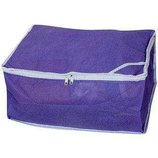 Fashon Bizz Purple Non Woven Multi Saree Cover Set of 1 Pc
