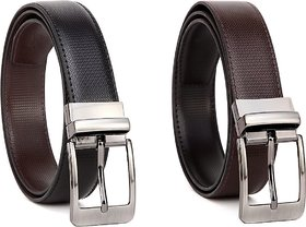 Black  Brown Pure Leather Belt For Mens