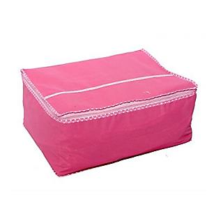 Fashion bizz Saree Cover Non Woven Cloth Material (Pink)