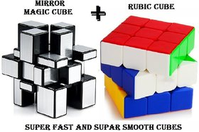 COMBO Fast And Smooth Rubik's Speed Cube + Mirror Magic Cube Puzzle  Recommended