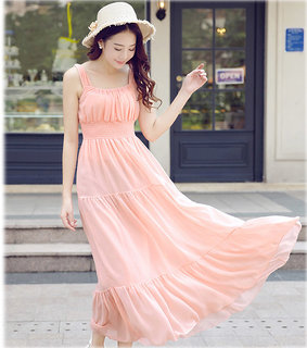 Raabta Baby Pink Maria Smoking Long Maxi Dress