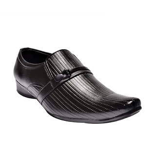 Prolific Men Black Formal Slip On Shoe