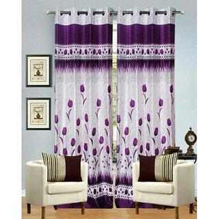Tejashwi Traders Flower Door curtain set of 2 (4x7)