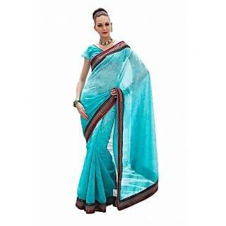 Manjula Multicolor Linen Self Design Saree With Blouse