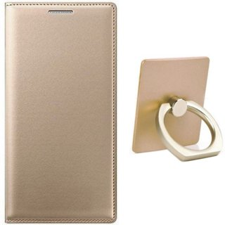 Samsung C9 Pro Leather Cover with Ring Stand Holder