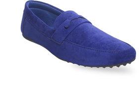 Footfit Men's Blue Slip On Loafer Shoe