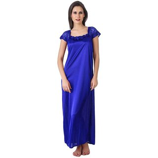 Buy Satin XL Blue Size Maternity   Nursing Nighty  Nightwear. Online - Get  53% Off 795b319af