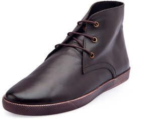 De Scalzo Men's Casual Brown Leather Boots