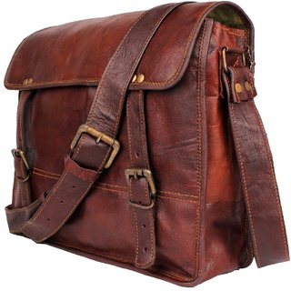 890a867e4a Genuine Leather Bag Messenger Bag Leather Office School College Laptop  Shoulder Bag Real Brown Briefcase Leather