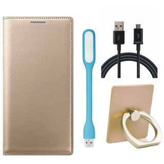 Samsung J7 Pro ( SM-J730G ) Stylish Cover with Ring Stand Holder, USB LED Light and USB Cable