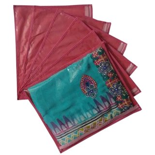 Fashion Bizz Regular Red Saree Covers Bag Set of 6 Pcs Combo