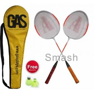 Gas Smash Badminton Set Of 2 Racquetcover And Shuttlecock