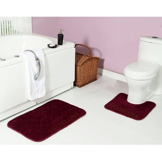 Valtellina Anti skid with Rubber Backing memory  Bathmat and Contour set (BMTS-005)