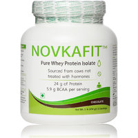 Novkafit Pure Whey Protein Isolate - 1 Lb (454 G), Choc