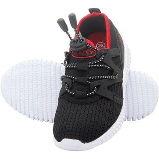 TEPCY Boys Girls Lace Walking Shoes BK