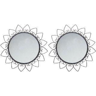 Hosley Set of 2 Round Decorative Wall Mirrors