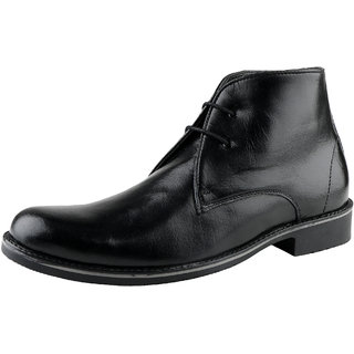 9e912b6d1e4 Buy Kanprom Black Casual Boots Genuine Leather Shoes For Men Online ...