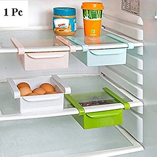 SNR 1pc Multipurpose Compact Fridge Pull-Out Drawer Organizer Kitchen Shelf Rack Multi Purpose Sliding Rack