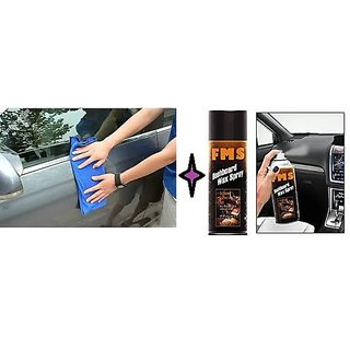 Combo Car Dash Board Spray   Microfiber Cloth