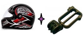 Combo of ISI Mark Helmet + Bike Helmet Lock (W shape)