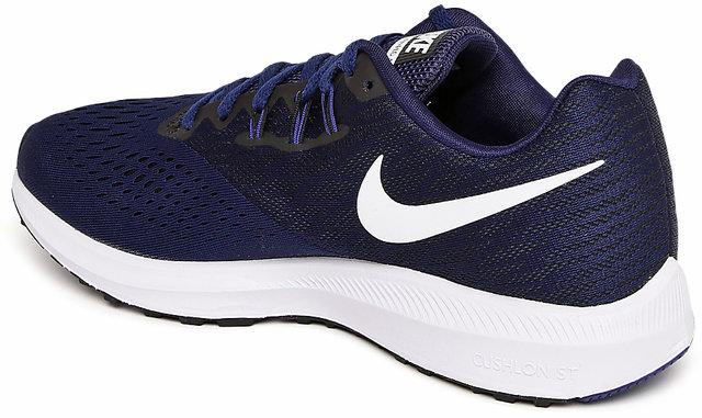 timeless design 3ea94 b7396 Nike Men's Zoom Winflo 4 Navy Blue Running Shoes