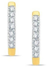 Pure Gold Jewellers 18kt Yellow gold Hoops with 14pcs of 0.30cts Diamonds
