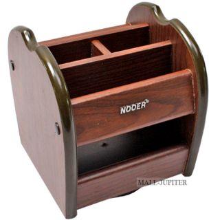 Online Wooden Pen Holder Stand Office Home Drayer Table Desk Mini