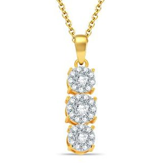 Pure Gold Jewellers 18kt Yellow gold Illusion Pendant with 31pcs of 0.31cts Diamonds