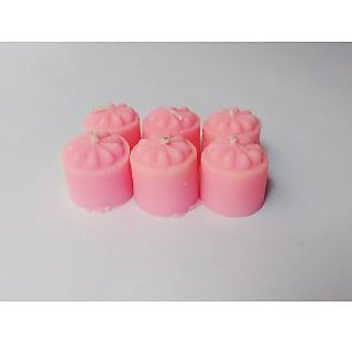 Zanky Pink Scented Mini Piller Candle-Pack Of 6 (ZYCNL26)