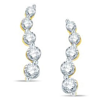 Pure Gold Jewellers 18kt Yellow Gold Journey Earring with 10pcs of 0.55cts Diamonds