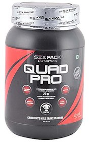 Six Pack Quad Pro Nutrition Blend Protein - 1 Kg (Choco
