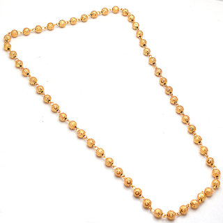 Chain gold plated matarmala round ball long daily use real gold look