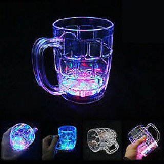 SVM LED Colorful Flashing Light Up Glass Cup Mug Bar Party Club Wedding-2 Pieces