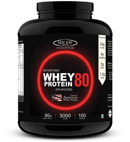 Sinew Nutrition Raw Whey Protein Concentrate 79% Whey Protein (3 kg, Unflavored)