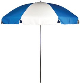 Outdoor Umbrella - Blue and White - 7 feet