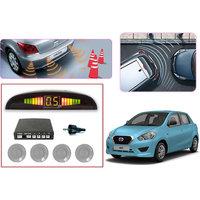 Premium Quality Car Parking Reverse Sensors For - Datsun Go  - Silver -  Set Of 4Pcs.