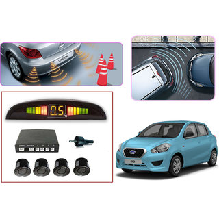 Premium Quality Car Parking Reverse Sensors For - Datsun Go  - Black -  Set of 4Pcs.