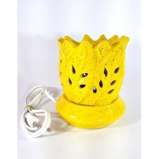 Ceramic Yellow Handmade Decorative Electric Aroma Oil Diffuser/Burner or Aroma Tea Light Diffuser