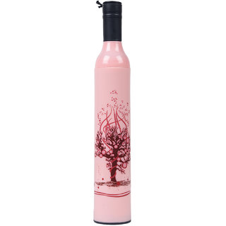 Home Story Fashionable Wine Bottle Pink Cover 110 cm Travel Umbrella