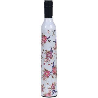 Home Story Fashionable Wine Bottle White Cover 110 cm Travel Umbrella