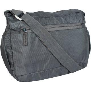 d8d9fc45dc Buy Favria Men Women Grey Polyester Sling Bag Online - Get 50% Off