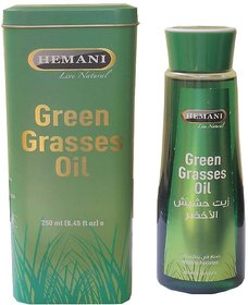 Hemani Green Grass Oil For Shiny Healthy Hair And Regrowth 250ml