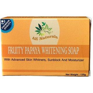 AE Naturals Premium Papaya Skin Whitening Soap With Sunblock 135g Pack of 2