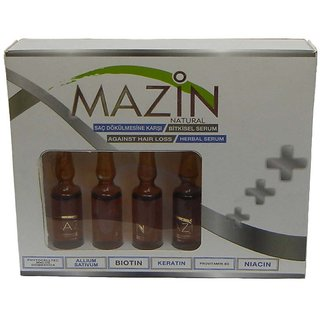 Mazin Natural Keratin Herbal Hair Serum For Hair Loss And Regrowth 5ml Set of 4