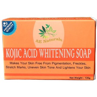 AE Naturals Premium Kojic Acid Soap For Skin Whitening 135g Pack of 3