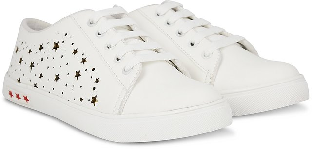 Golden Stars Lace-Up Casual Sneakers
